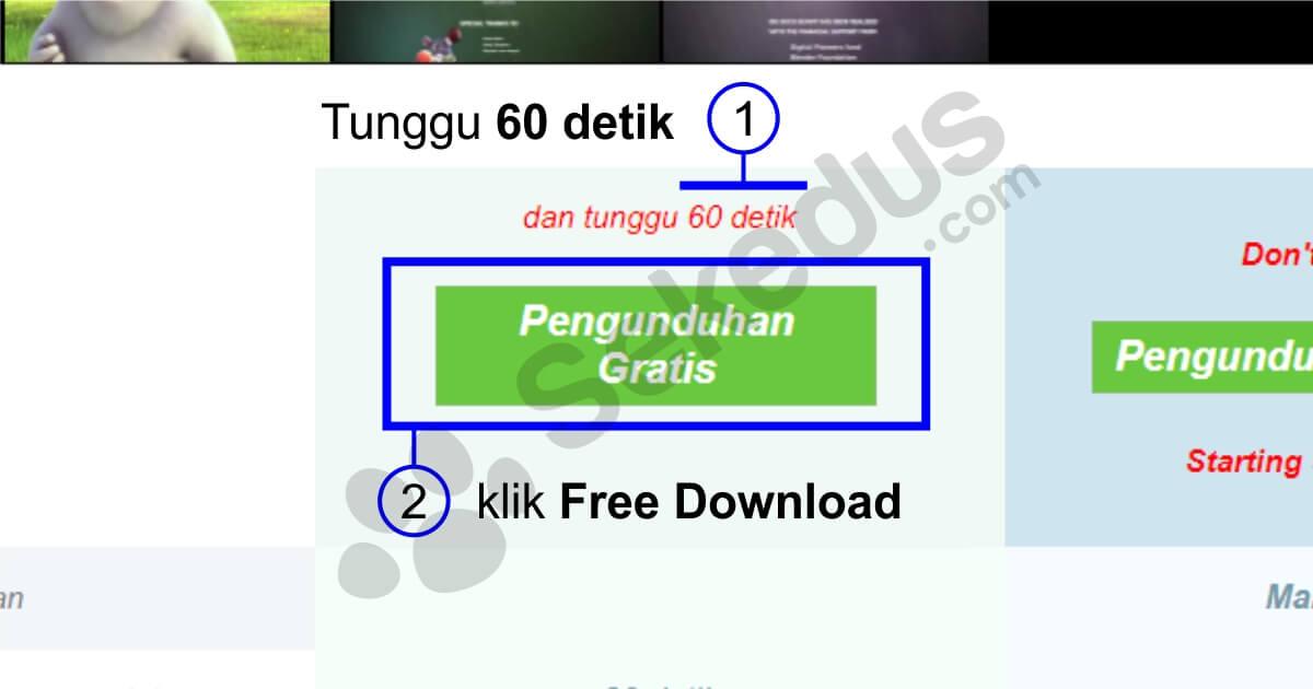 cara download uptobox: tunggu 60 detik sebelum download