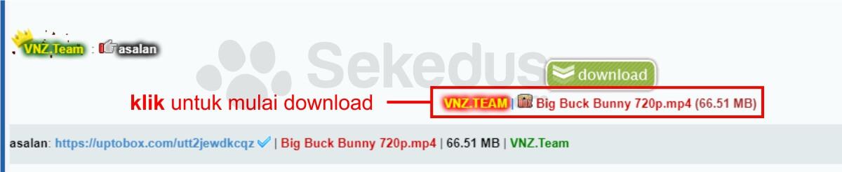 cara download uptobox: hasil link download
