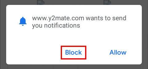 block notifikasi